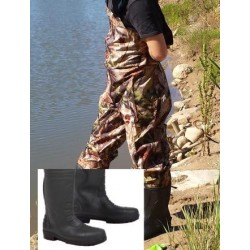 Nylon wader with  PVC boots