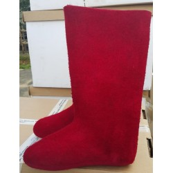 Felt boots red