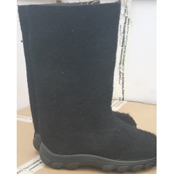 Felt boots black with polyurethane soles