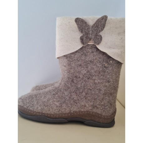 Felt boots polyurethane soles