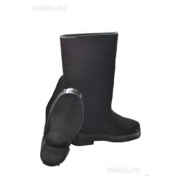 Felt boots black with rubber sole, 43 size