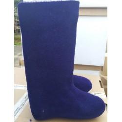 Felt boots violet
